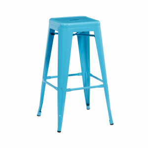 Bronx Blue Metal Bar Stools
