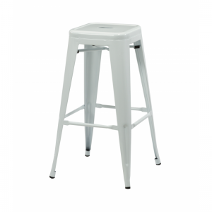 Bronx White Metal Bar Stools