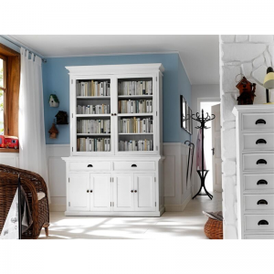 Halifax White Painted Glass Display Unit