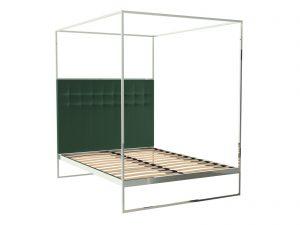 Federico Deep Green Velvet Canopy Bed