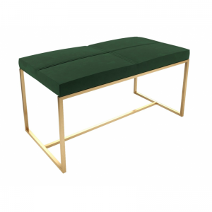 Federico Deep Green Velvet Large Stool
