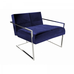 Federico Midnight Blue Velvet Armchair 1