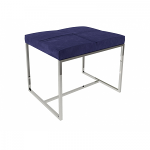 Federico Midnight Blue Velvet Stool 1