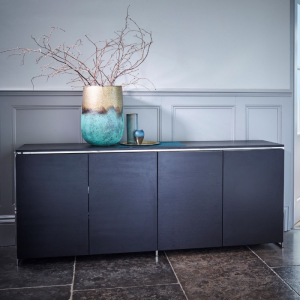 The Federico Black Stained Oak Sideboard 4