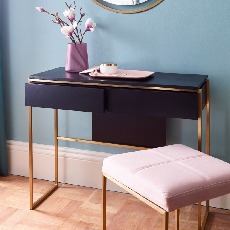 Federico Black Stained Oak Dressing Table 4