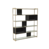 Federico Black Stained Oak High Bookcase 4