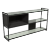 Federico Black Stained Oak Low Bookcase