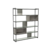 Federico Weathered Oak High Bookcase 1