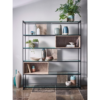 Federico Weathered Oak High Bookcase