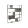 Federico Weathered Oak High Bookcase 2