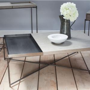 Iris Weathered Oak & Metal Frame Coffee Table 1