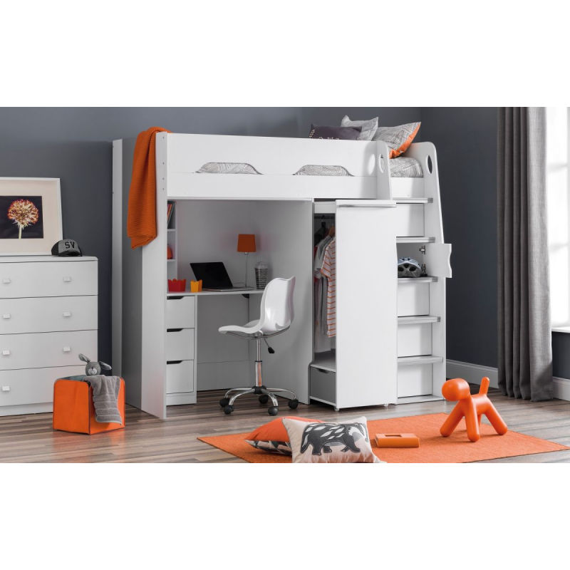 Pegasus Matt White High Sleeper | Kids Bedroom | FADS