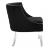 Clarence Studded Black Accent Chair 2