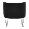 Clarence Studded Black Accent Chair 3