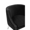 Clarence Studded Black Accent Chair 5