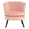 Round Pastel Pink Velvet Armchair