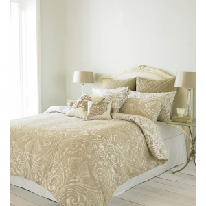 Damask Natural Double Duvet Cover Set