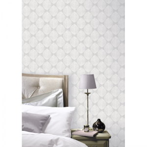 Grey Leaf Patterned Wallpaper