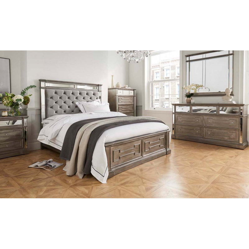 ophelia silver mirror chest  bedroom furniture  fads