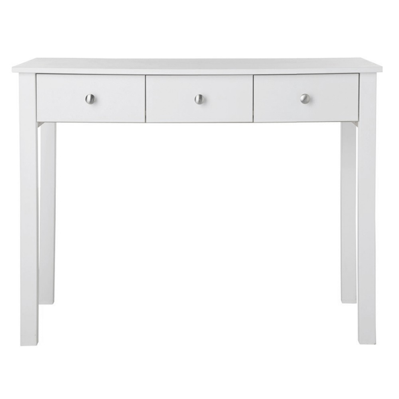 Florence White Package Dressing Table + Stool + Mirror