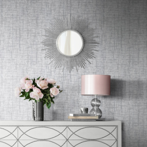 Charice Cross Hatch Silver Wallpaper