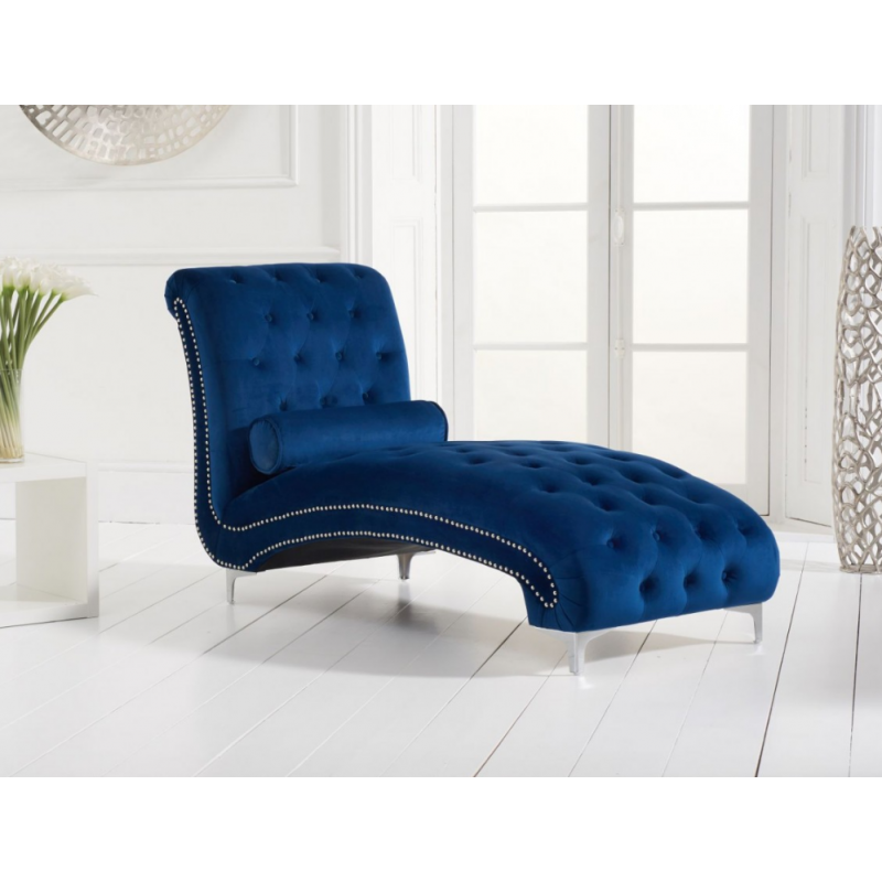 New England Velvet Chaise Longue