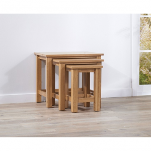 Cambridge Oak 3 Piece Nest Tables
