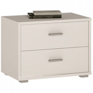4 You 2 Drawer low chest/ Bedside in Pearl White