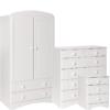 Scandi White Bedside - 2+4 Chest - 2 Door 2DRW combi robe package