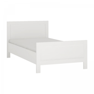 4 You Single bed in Pearl White